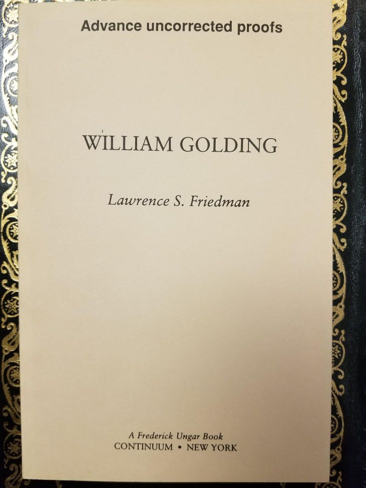 William Golding. Lawrence S. FRIEDMAN.