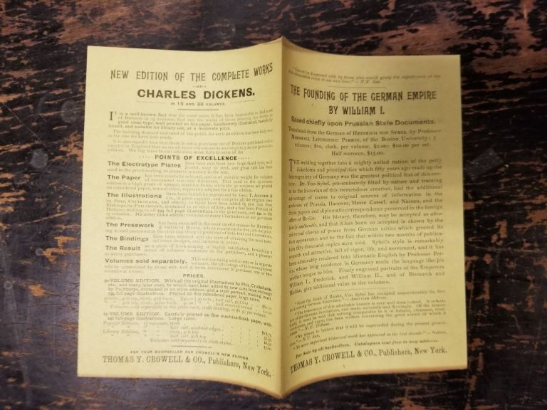 Thomas Y. Crowell 1890s advertising pamphlet. Thomas Y. Crowell Co.