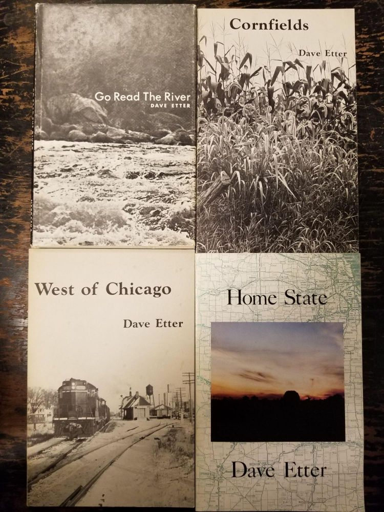 12 Inscribed First Edition Poetry Books by Dave Etter. Dave ETTER, SIGNED.