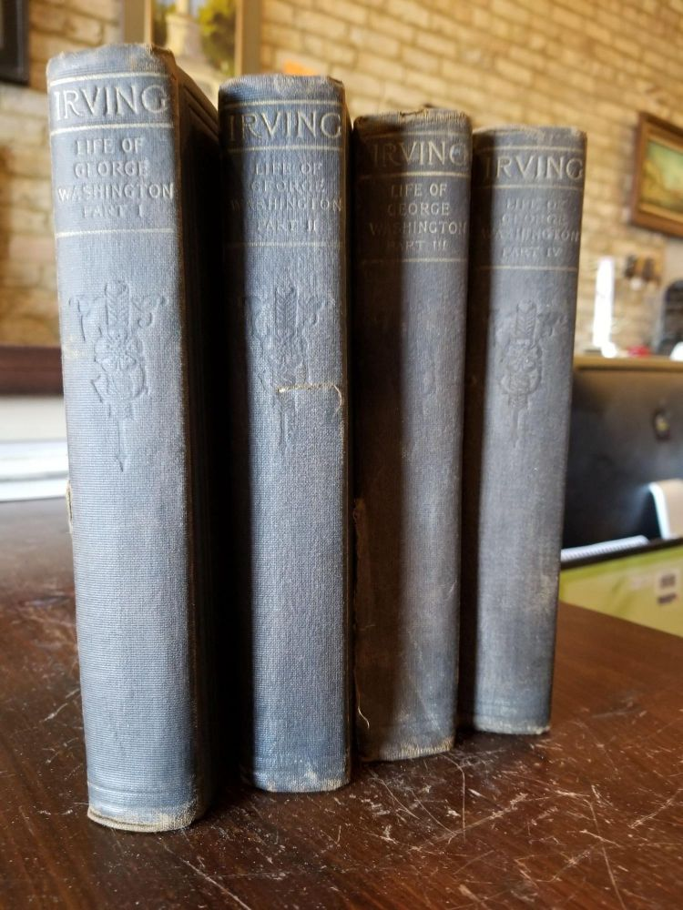 The Life of George Washington (set of 4). Washington Irving.