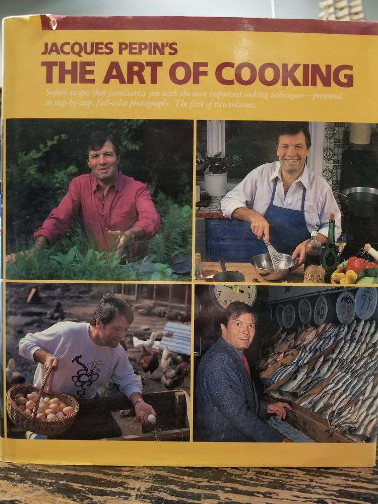 Jacque Pepin's The Art of Cooking. Jacques PEPIN, SIGNED.