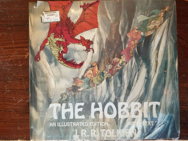 The Hobbit; An illustrated edition with text. J. R. R. Tolkein.