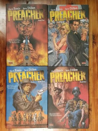 Preacher: Books 1-4 [set of 4]. Garth ENNIS, Steve DILLON