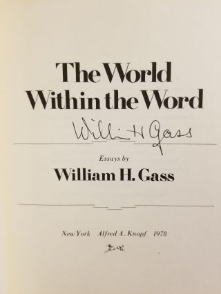 The World Within the Word; Essays