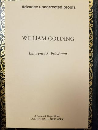 William Golding. Lawrence S. FRIEDMAN