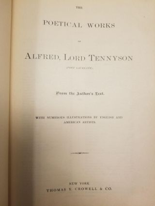 The Poetical Works of Alfred Lord Tennyson (Poet Laureate); From the Author's Text. With Numerous Illustrations by English and American Artists