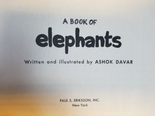 A Book of Elephants