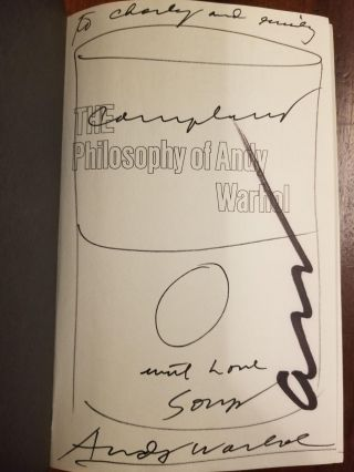 The Philosophy of Andy Warhol (From A to B & Back Again) [Full signature with Campbell's soup can drawing]