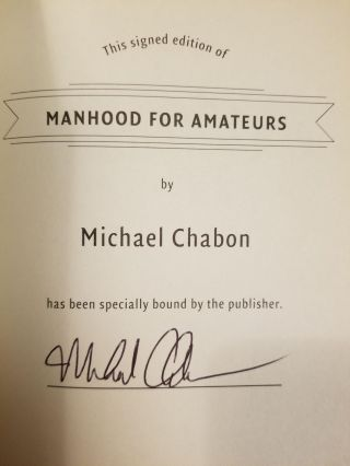 Manhood for Amateurs; The Pleasures and Regrets of a Husband, Father, and Son