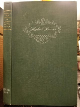 Reports and Letters of Herbert Beaver, 1836-1838; Chaplain to the Hudson's Bay Company and...