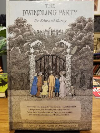 The Dwindling Party. Edward GOREY, SIGNED