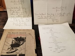 Handwritten Letters from Stephen Crane to Elbert Hubbard and Related Ephemera. Stephen CRANE,...