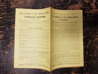Thomas Y. Crowell 1890s advertising pamphlet. Thomas Y. Crowell Co
