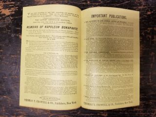 Thomas Y. Crowell 1890s advertising pamphlet