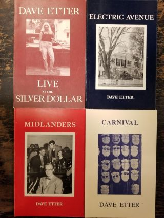 12 Inscribed First Edition Poetry Books by Dave Etter