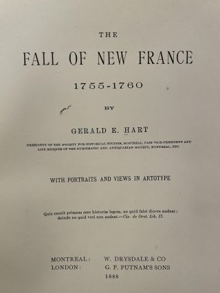 The Fall of New France 1755-1760