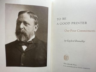 To Be a Good Printer; Our Four Commitments