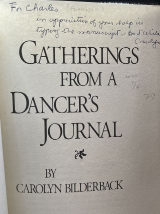 Gatherings from a Dancer's Journal
