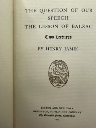 The Question of Our Speech / The Lesson of Balzac; Two Lectures