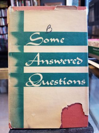 Some Answered Questions; collected and translated from the Persian. Abdu'l-Baha, Laura Clifford...