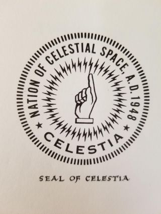 An Archive of Materials from the Micronation of Celestia